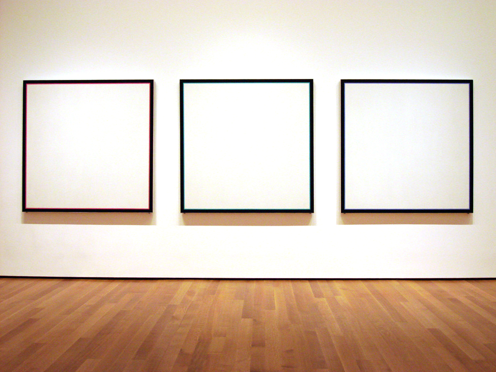 Jo Baer Primary Light Group Red Green Blue Triptych