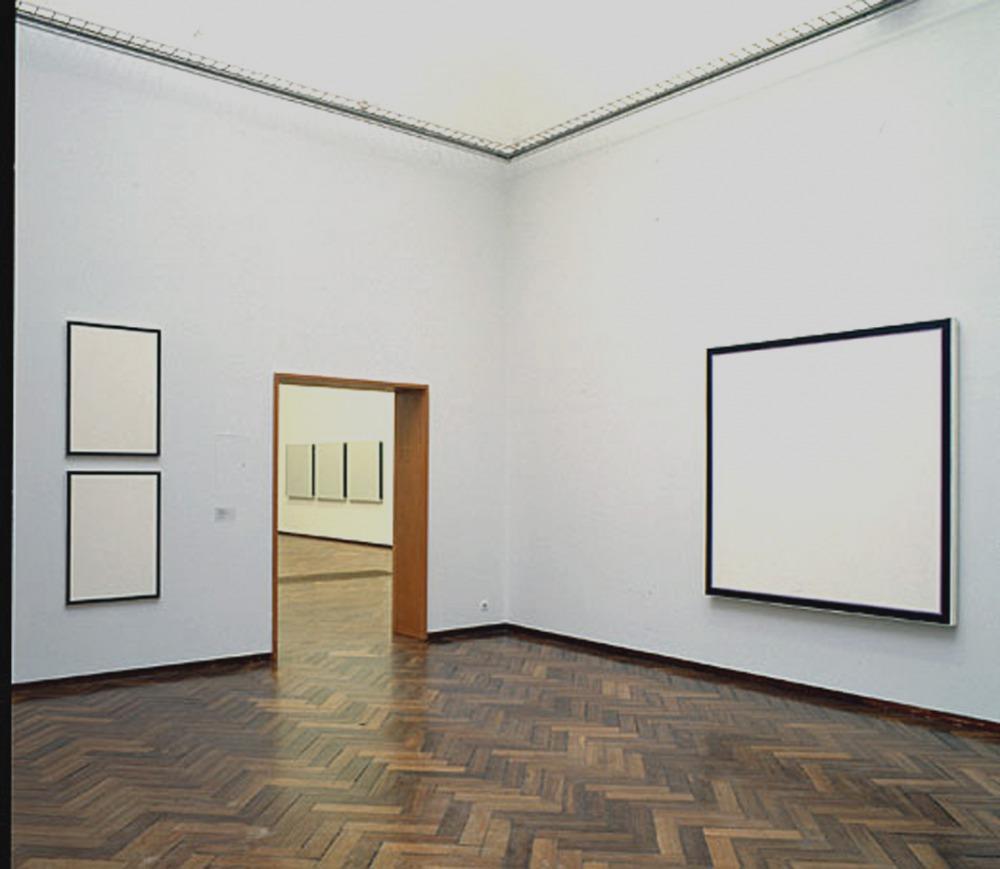 Jo Baer - Solo at Stedelijk Museum, Amsterdam, Room 1. A